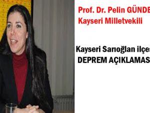 AK Parti Millet Vekili Pelin Gündeş Bakır Deprem Açıklaması