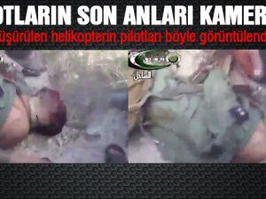 Suriye Helikopterin pilotuna ait olduğu-videolar yayınlandı
