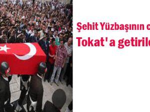 Şehit Yüzbaşının cenazesi Tokat&#39a getirildi