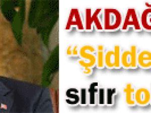 Sağlık Bakanı Akdağ: Şiddete sıfır tolerans!
