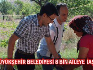 Kayseri  Büyükşehir  Belediyesi 8 bin  Aileye İaşe Paketi