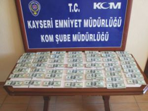 Kayseri Polisinden Sahte Dolar Operasyonu