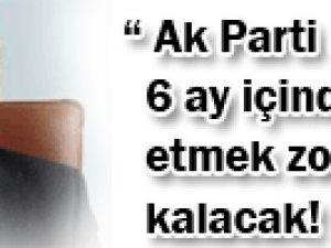 &#39AKP hükümeti 6 ay içinde istifa etmek zorunda kalacak!&#39
