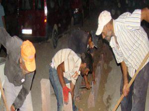 Kocasinan'da Çalışmalara Gece de Devam