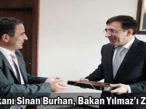 UBD Başkanı Sinan Burhan, Bakan Yılmaz&#39ı ziyaret etti