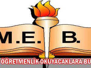 MEB&#39DEN ÖĞRETMENLİK OKUYACAKLARA BURS