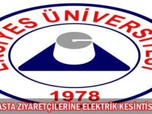 Erciyes Ünüversitesinde Elektrik Kesintisi
