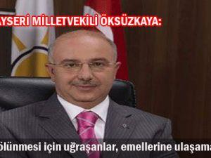 AK PARTİ Kayseri Mİllet Vekili Öksüzkaya
