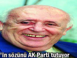 Demirel&#39in sözünü AK Parti tutuyor