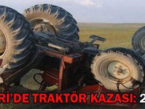 Kayseri&#39de Traktör Kazası!