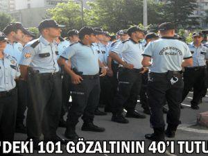 Kayseri&#39deki 101 Gözaltının 40&#39ı Tutuklandı!