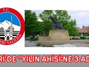 Kayseri&#39de Yılın Ahisi&#39ne 3 Aday