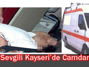 Çapkın sevgili Kayseri&#39de camdan atladı