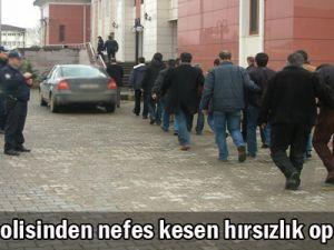 Kayseri polisinden 29 ili kapsayan operasyon