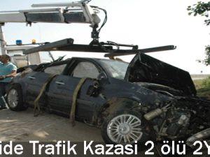 Kayseri&#39de Trafik Kazası: 2 ölü, 2 Yaralı