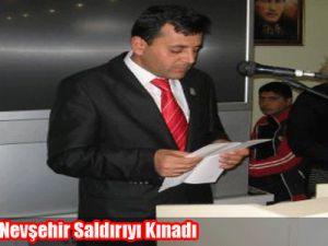 Kayseri ve Nevşehir Saldırıyı Kınadı