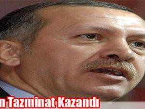 Erdoğan tazminat kazandı