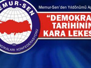 Memur-Sen'den 12 Eylül darbesi yıl dönümü açıklaması: