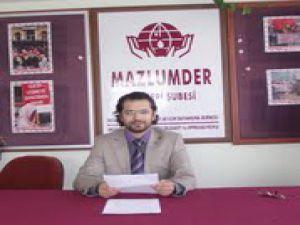 Mazlumder: ''Örgütlenme Hakkı Engellenemez!''