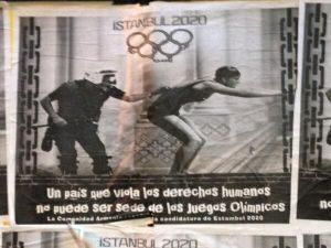 Arjantin'de İstanbul Karşıtı Afiş