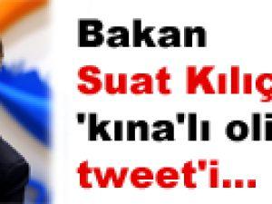 Bakan Suat Kılıç'tan 'kına'lı olimpiyat tweet'i...
