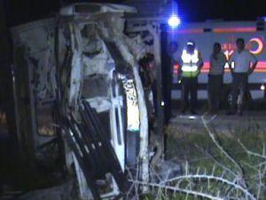 Bünyan  Akmescit'te Trafik Kazası: 1 Ölü, 3 Yaralı