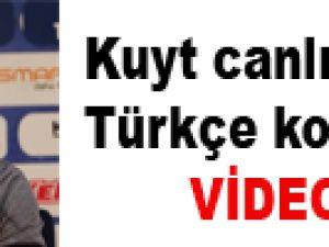 Kuyt canlı yayında Türkçe konuştu / VİDEO