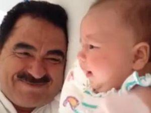 Tatlıses, ağlayan kızını türkü ile susturdu - VİDEO