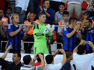 Erciyesspor kupa sevinci yaşadı