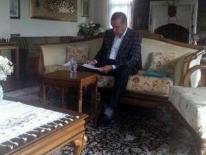 Başbakan'ın baba ocağındaki o fotoğrafı