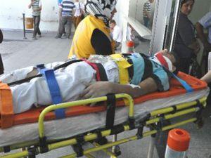 Battaigazi'de 4. Kattan Düşen İşçi Ağır Yaralandı