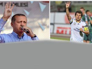 Erdoğan'dan sonra Emre de Rabia işareti yaptı