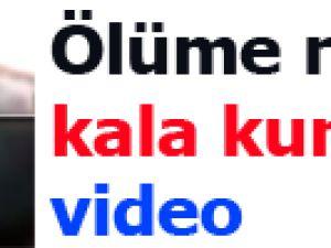 Ölüme ramak kala kurtuldu-video