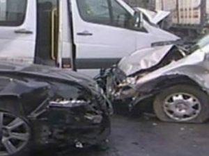 Kayseri'de Trafik Kazası:5 yaralı