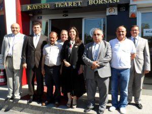 AK PARTİ KAYSERİ MİLLETVEKİLİ BAKIR'DAN ODALARA VE BORSA'YA ZİYARET