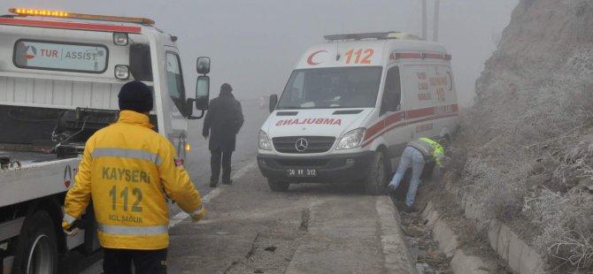 Kayseri'de kazaya giden 2 ambulans kaza yaptı