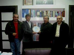 Taş Medreseli Ülkücüler Başkan Mehmet Özmen'i Ziyaret Etti