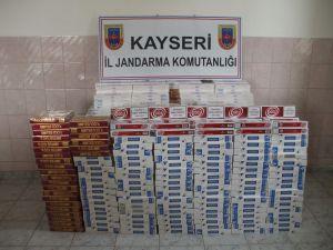 KAYSERİ JANDARMA 4 BİN 500 PAKET SİGARA ELE GEÇİRDİ