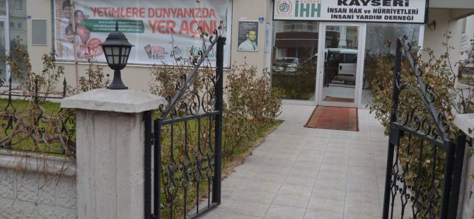 KAYSERİ İHH BASKIN 1 KİŞİ GÖZALTINA ALINDI