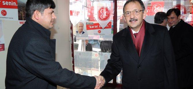 Başkan Özhaseki CHP ve MHP seçim bürolarına da uğradı