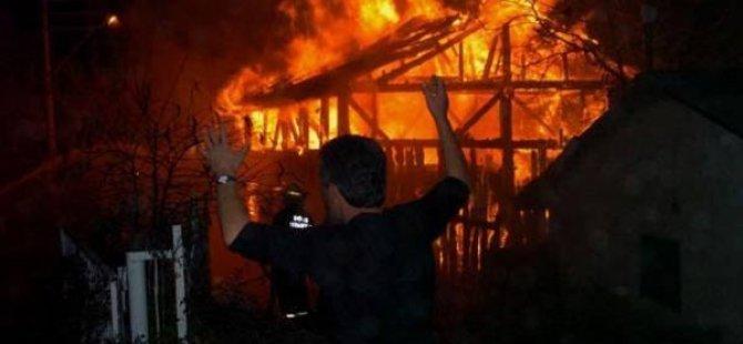 Kayseri Organize'de yangın 2 yaralı bir işci 80 metreden düştü