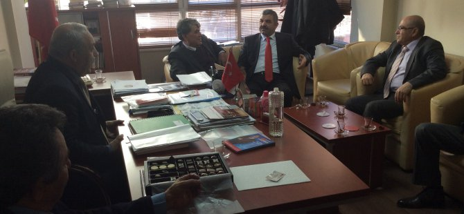 MUSTAFA ÇELİK'TEN CHP VE MHP ADAYLARINA NEZAKET ZİYARETİ