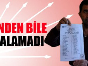 CHP'li aday eşinden bile oy alamadı