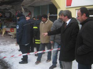 Bünyan'da Çay Ocağında Korkutan Patlama