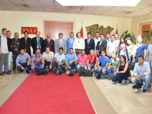 Basın Mensuplarının Vali Düzgün'ü Ziyaret Etti