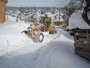 Kayseri'de Şiddetli Kar Yağışı 50 Köy Yolu Ulaşıma Kapalı