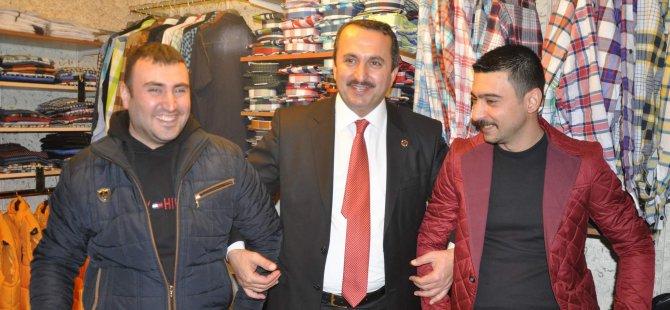 Kayseri SP Belediye Başkan Adayları Esnafları Ziyaret Etti