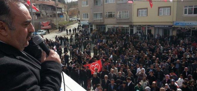 BÜNYAN'DA MHP'DEN 5 BİN KİŞİLİK DEV MİTİNG