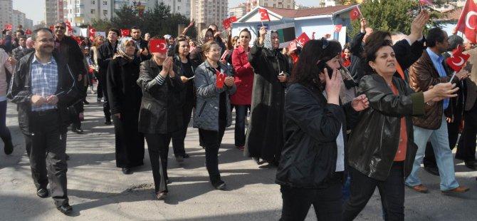 KAYSERİ'DE EYLEM CHP İL BAŞKANI VE ÇİLSAL'DAN DESTEK