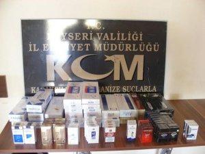 Kayseri'de kaçak sigara